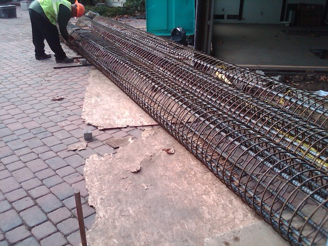 Rebar Cages And Contractor Jpg Commercial Caisson Grade